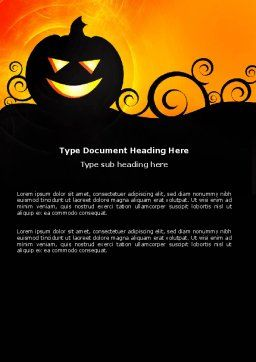Halloween is Near Word Template, Cover Page, 03967, Holiday/Special Occasion — PoweredTemplate.com