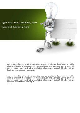 Idea Board Word Template, Cover Page, 03970, Consulting — PoweredTemplate.com