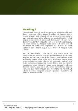 Idea Board Word Template, Second Inner Page, 03970, Consulting — PoweredTemplate.com