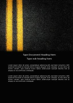 Road Marking Word Template, Cover Page, 03971, Cars/Transportation — PoweredTemplate.com