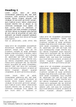 Road Marking Word Template, First Inner Page, 03971, Cars/Transportation — PoweredTemplate.com