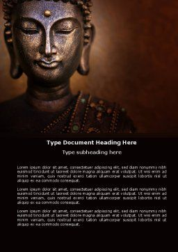 Buddha In Meditation Word Template Cover Page