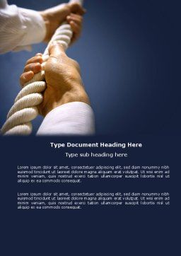 Climbing Up Word Template, Cover Page, 03977, Business Concepts — PoweredTemplate.com