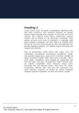 Climbing Up Word Template, Second Inner Page, 03977, Business Concepts — PoweredTemplate.com