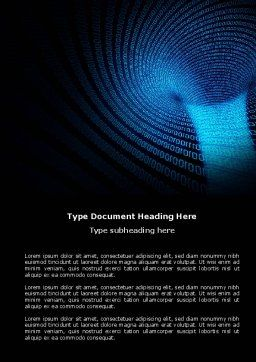 Digital Black Hole Word Template, Cover Page, 03978, Technology, Science & Computers — PoweredTemplate.com