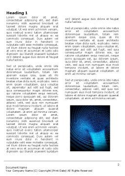 Digital Black Hole Word Template, First Inner Page, 03978, Technology, Science & Computers — PoweredTemplate.com