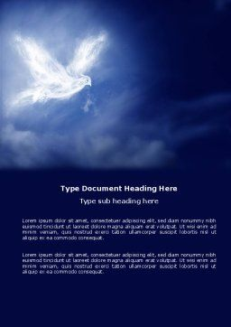 Peace Dove Word Template Cover Page