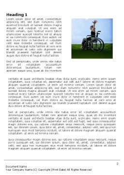 Handicapped Person Word Template, First Inner Page, 03985, People — PoweredTemplate.com