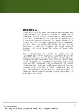 Handicapped Person Word Template, Second Inner Page, 03985, People — PoweredTemplate.com