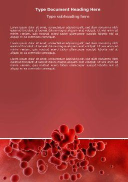 Blood Word Template, Cover Page, 03987, Medical — PoweredTemplate.com