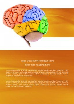 Cerebral Autoregulation Word Template, Cover Page, 03988, Medical — PoweredTemplate.com