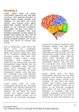 Cerebral Autoregulation Word Template, First Inner Page, 03988, Medical — PoweredTemplate.com