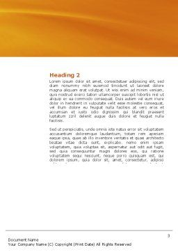 Cerebral Autoregulation Word Template, Second Inner Page, 03988, Medical — PoweredTemplate.com
