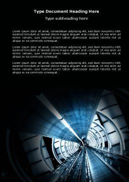 Airport Staircase Word Template, Cover Page, 03990, Construction — PoweredTemplate.com