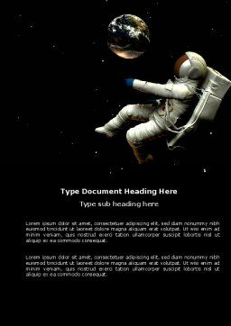 Cosmonaut Word Template, Cover Page, 03991, Technology, Science & Computers — PoweredTemplate.com
