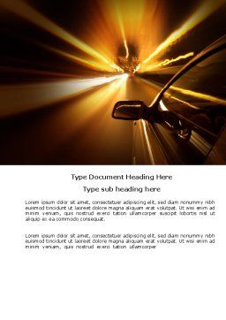 Need for Speed Word Template, Cover Page, 03992, Cars/Transportation — PoweredTemplate.com