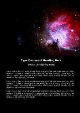 Nebula Word Template, Cover Page, 03996, Technology, Science & Computers — PoweredTemplate.com