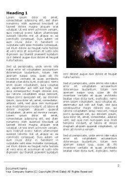 Nebula Word Template, First Inner Page, 03996, Technology, Science & Computers — PoweredTemplate.com