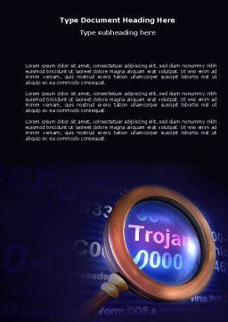 Computer Virus Word Template, Cover Page, 03997, Technology, Science & Computers — PoweredTemplate.com
