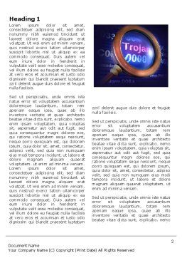 Computer Virus Word Template, First Inner Page, 03997, Technology, Science & Computers — PoweredTemplate.com