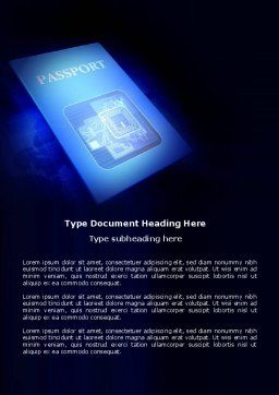 Passport Word Template, Cover Page, 03999, Technology, Science & Computers — PoweredTemplate.com