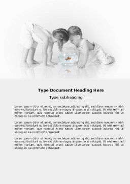 Happy Children Word Template, Cover Page, 04000, People — PoweredTemplate.com
