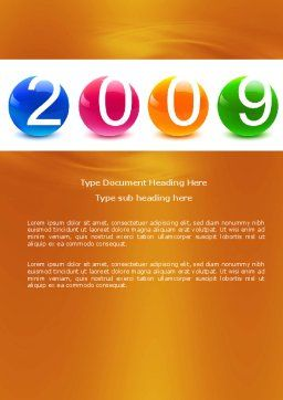 2009 year Word Template, Cover Page, 04001, Holiday/Special Occasion — PoweredTemplate.com