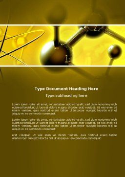 Molecular Lattice In Dark Yellow Colors Word Template, Cover Page, 04002, Technology, Science & Computers — PoweredTemplate.com
