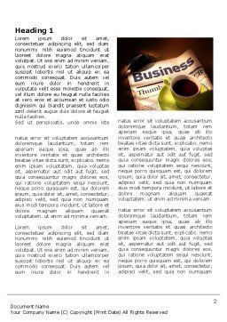 Business Newspaper With Cup Of Coffee Word Template, First Inner Page, 04004, Business — PoweredTemplate.com