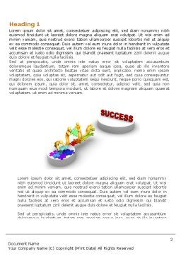 Bridge To Success Word Template, First Inner Page, 04006, Business Concepts — PoweredTemplate.com