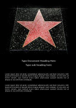 Walk of Fame Word Template Cover Page