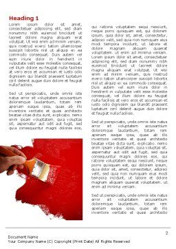 Red Paint Word Template First Inner Page