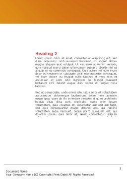 Comprehension Word Template, Second Inner Page, 04016, Business Concepts — PoweredTemplate.com