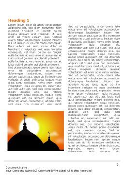 Mosques Word Template, First Inner Page, 04019, Religious/Spiritual — PoweredTemplate.com