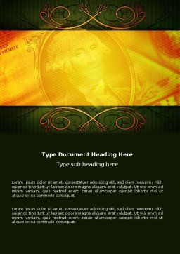 Dollar In Yellow Word Template, Cover Page, 04022, Financial/Accounting — PoweredTemplate.com