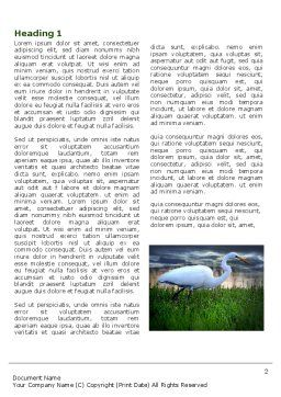 Egret Word Template First Inner Page