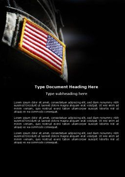 American Armed Forces Word Template, Cover Page, 04026, Military — PoweredTemplate.com