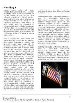 American Armed Forces Word Template, First Inner Page, 04026, Military — PoweredTemplate.com