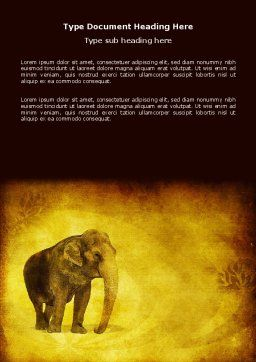 Indian Elephant Word Template, Cover Page, 04027, Agriculture and Animals — PoweredTemplate.com