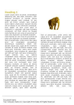 Indian Elephant Word Template, First Inner Page, 04027, Agriculture and Animals — PoweredTemplate.com