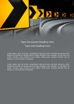 Road Reflector Word Template, Cover Page, 04032, Construction — PoweredTemplate.com