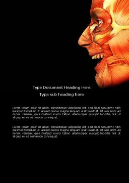 Facial Muscles Word Template, Cover Page, 04045, Medical — PoweredTemplate.com