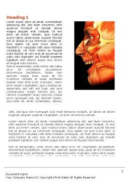 Facial Muscles Word Template, First Inner Page, 04045, Medical — PoweredTemplate.com