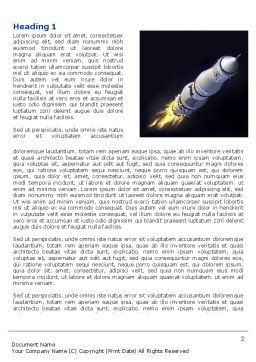 Space Ship Word Template, First Inner Page, 04051, Technology, Science & Computers — PoweredTemplate.com