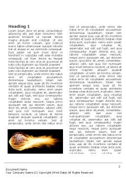 Flaming Basketball Word Template, First Inner Page, 04054, Sports — PoweredTemplate.com