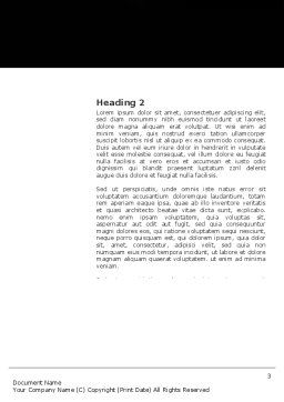 Flaming Basketball Word Template, Second Inner Page, 04054, Sports — PoweredTemplate.com
