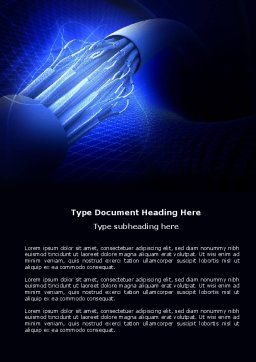 Multifilament Wire Word Template, Cover Page, 04055, Telecommunication — PoweredTemplate.com