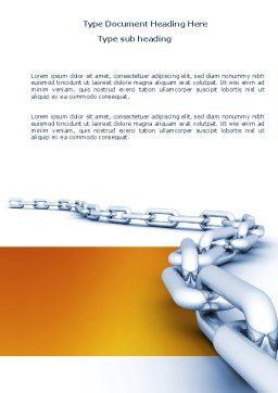 Chain Word Template, Cover Page, 04056, Business Concepts — PoweredTemplate.com