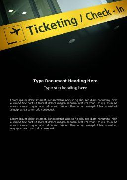 Ticketing Word Template, Cover Page, 04057, Cars/Transportation — PoweredTemplate.com