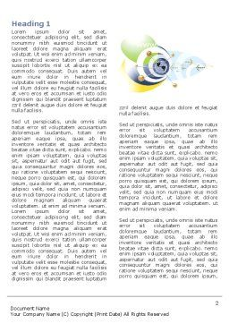 Communication Network Word Template, First Inner Page, 04058, Telecommunication — PoweredTemplate.com